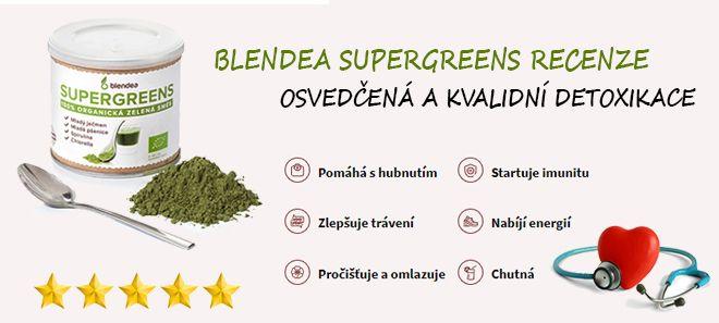 Blendea Supergreens recenze - vám pomůže snížit cholesterol a detoxikovat organismus